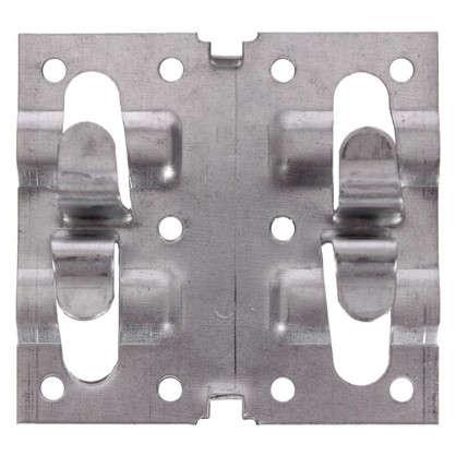 Кляймер рядный 70х75х10 мм 1 мм оцинкованная сталь 20 шт.