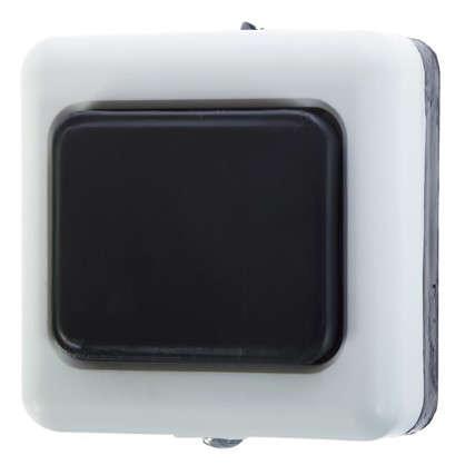 Кнопка для проводного звонка 220 В цвет белый/чёрный