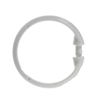 Кольца для шторок с клипсами Vidage цвет белый