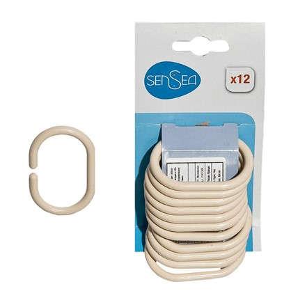 Кольца для шторок Sensea пластиковые  цвет бежевый 12 шт