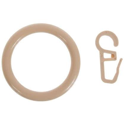 Кольца с крючками  28 мм цвет бук 4 шт.
