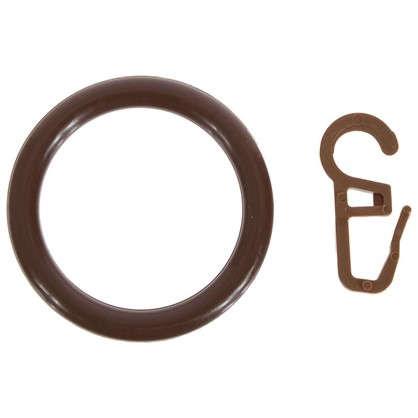 Кольца с крючками  28 мм цвет орех 4 шт.