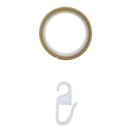 Кольцо с крючком 3.3 см цвет золото матовое