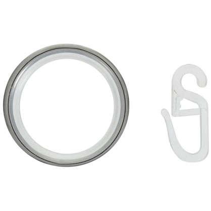 Кольцо с крючком 3.5 см цвет хром