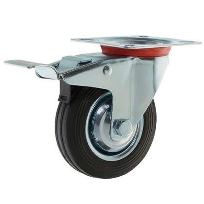 Колесо 100 мм поворотное с тормозом