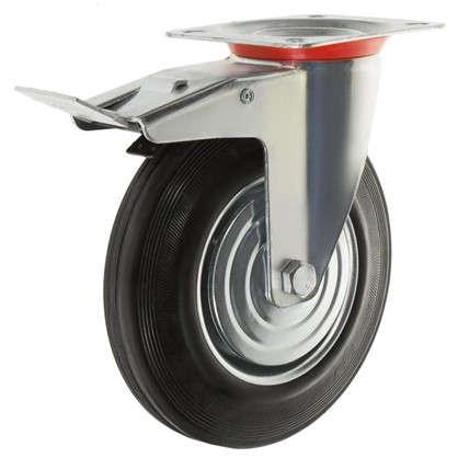 Колесо 200 мм поворотное с тормозом до 205 кг