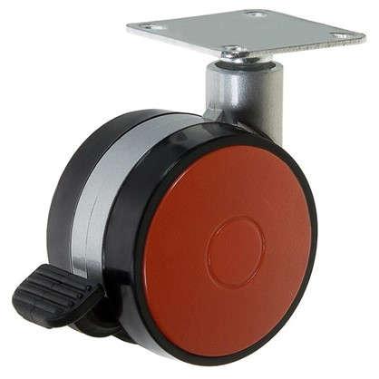Колесо Boyard N107BL/RD 60 мм поворотное с тормозом цвет красный
