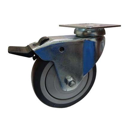 Колесо поворотное 100 мм с тормозом до 70 кг