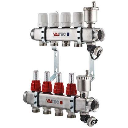Коллекторная группа Valtec со встроенными расходомерами 1х3/4 с 8 выходами