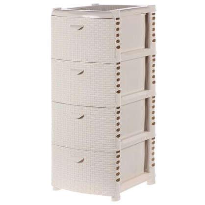 Комод Ротанг 4 ящика 40.5х50.5 см цвет белый