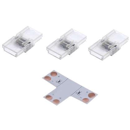 Комплект для светодиодной ленты: Т-образный коннектор 3 клипсы 2 разъема игла 8-10 мм IP20