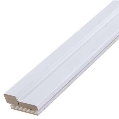 Комплект дверной коробки Модерн 2100х75 мм цвет белый ясень