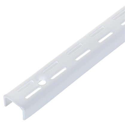 Комплект направляющих двухрядных 150 см нагрузка до 55 кг цвет белый 4 шт.
