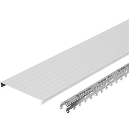 Комплект потолка Artens 1.7х1.7 м цвет жемчужно-белый с металлической полосой