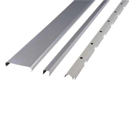 Комплект потолка для ванной 1.72x1.7 м цвет металлик/хром