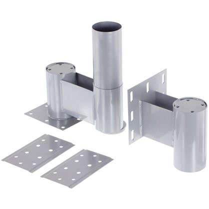Комплект верх/низ 225 мм сталь цвет алюминий