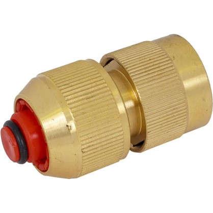 Коннектор 1/2 дюйма с аквастопом латунь