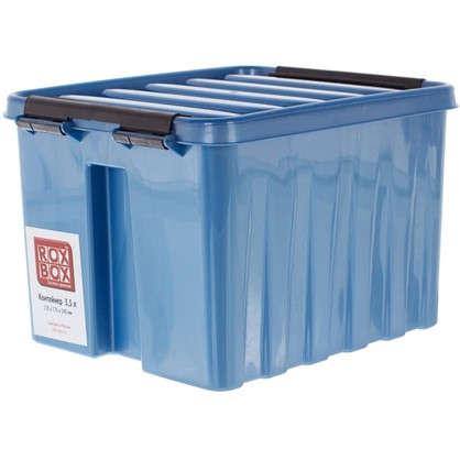 Контейнер Rox Box с крышкой 17x14x21 см 3.5 л пластик цвет синий