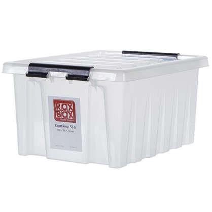 Контейнер Rox Box с крышкой 39x25x50 см 36 л пластик цвет прозрачный