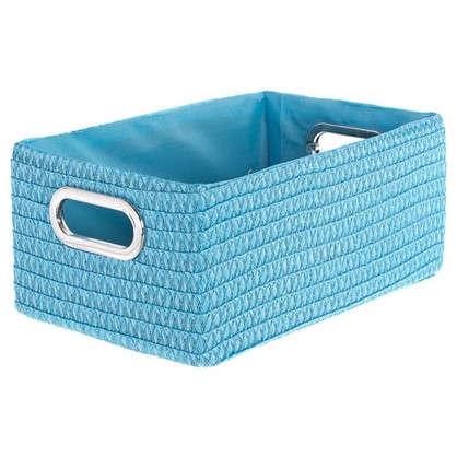 Короб без крышки L 34х16x22 см плетенье цвет голубой