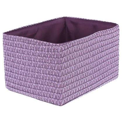 Короб без крышки M 25х16x19 см плетенье цвет лиловый