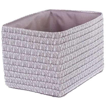 Короб без крышки S 21х16х16 см плетенье цвет серый