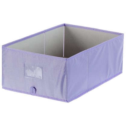 Короб Spaceo без крышки 27х16x44 см нетканный материал цвет фиолетовый