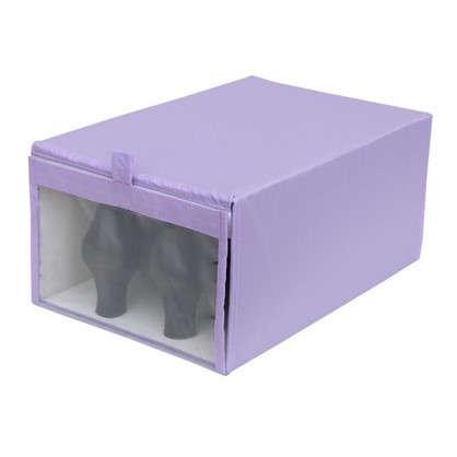 Короб Spaceo для обуви 22х16x34 см нетканный материал цвет фиолетовый