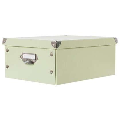 Коробка 37.5x15x27.5 см картон цвет зеленый