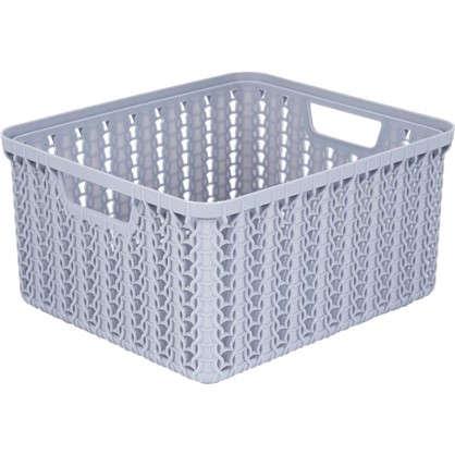 Коробка для хранения Вязание 1.5 л цвет серый