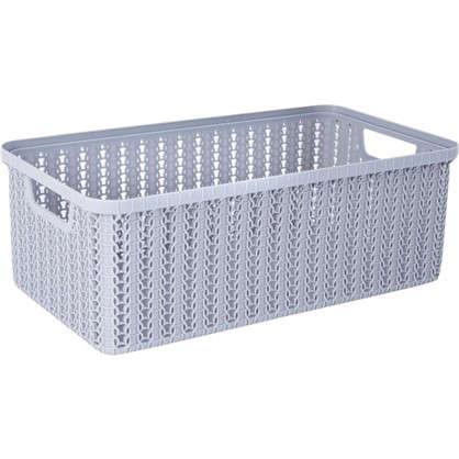 Коробка для хранения Вязание 6 л цвет серый