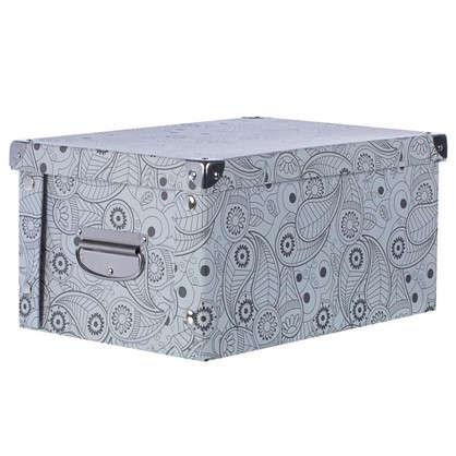 Коробка картон 30x25x17.5 см узор