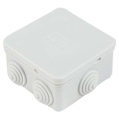 Коробка распределительная Экопласт 85х85х40 мм цвет серый IP44