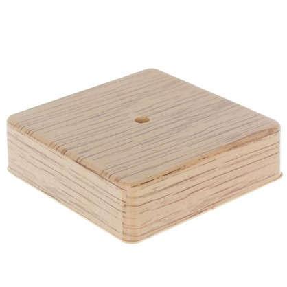 Коробка распределительная ОП 100х100х29 мм цвет дуб
