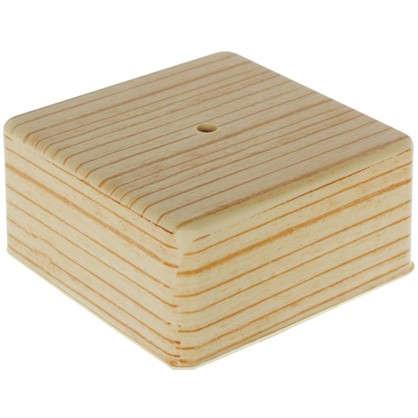 Коробка распределительная ОП 100х100х50 мм цвет сосна