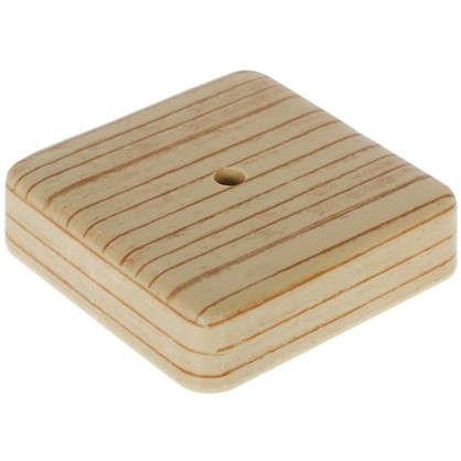 Коробка распределительная ОП 75х75х20 мм цвет сосна