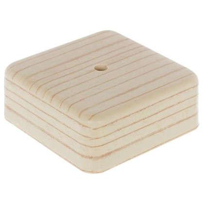 Коробка распределительная ОП 75х75х28 мм цвет сосна