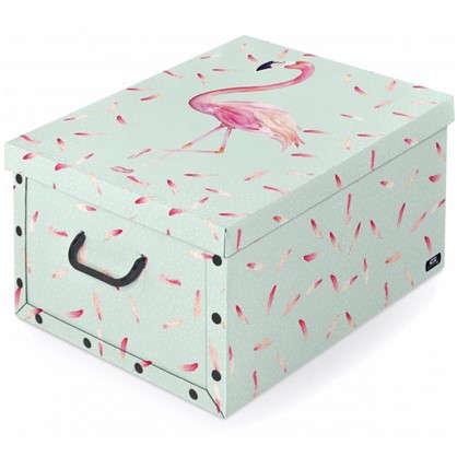 Коробка с ручками Domo Pak Фламинго 39х50x24 см картон