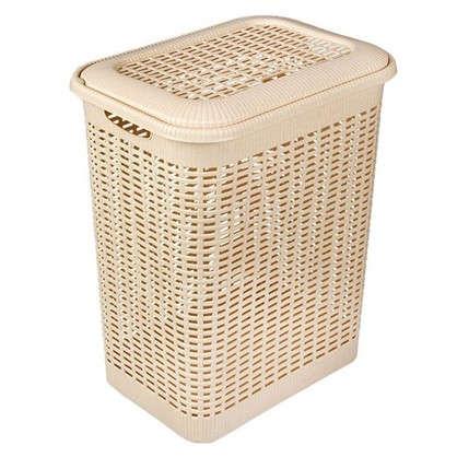 Корзина для белья Rattan Style 50 л полипропилен цвет бежевый/коричневый