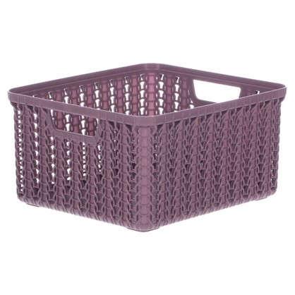 Корзина для хранения Вязание 1.5 л цвет пурпурный