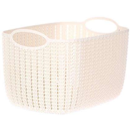 Корзина для хранения Вязание 7 л цвет белый