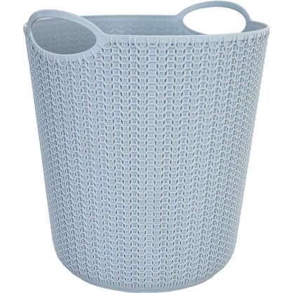 Корзина для мусора Вязание 260х290х260 мм 10 л цвет серый