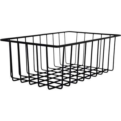 Корзина-органайзер для ящика 25х16х9 см цвет чёрный
