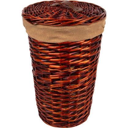 Корзина плетеная с крышкой M цвет коричневый