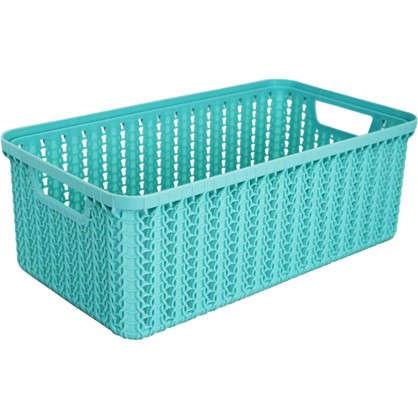 Корзинка для хранения Вязание 3 л цвет морская волна