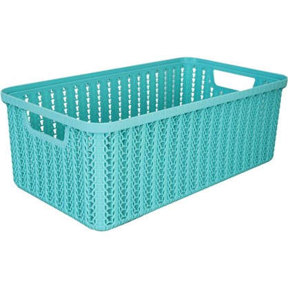 Корзинка для хранения Вязание 6 л цвет морская волна