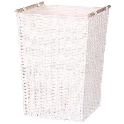 Корзинка плетеная 31х31х45 см цвет белый/мята/коричневый/красный