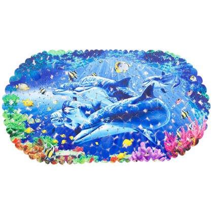 Коврик антискользящий для ванной комнаты 69х39 цвет в ассортименте