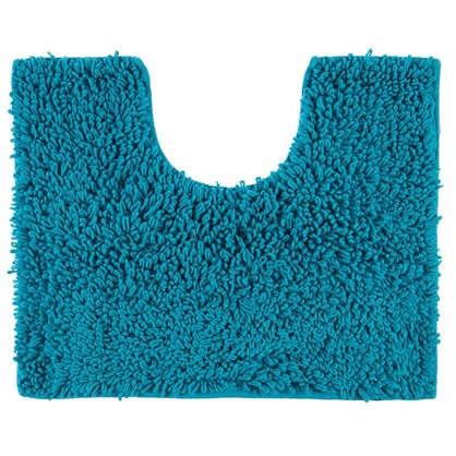 Коврик для туалета Crazy 50x40 см цвет голубой