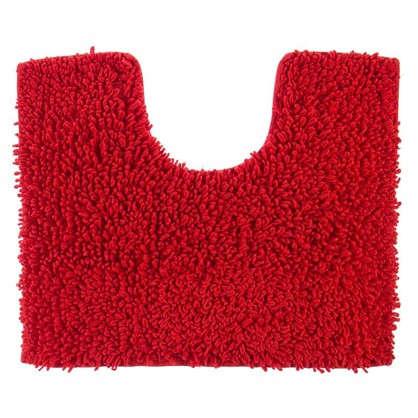 Коврик для туалета Crazy 50x40 см цвет красный